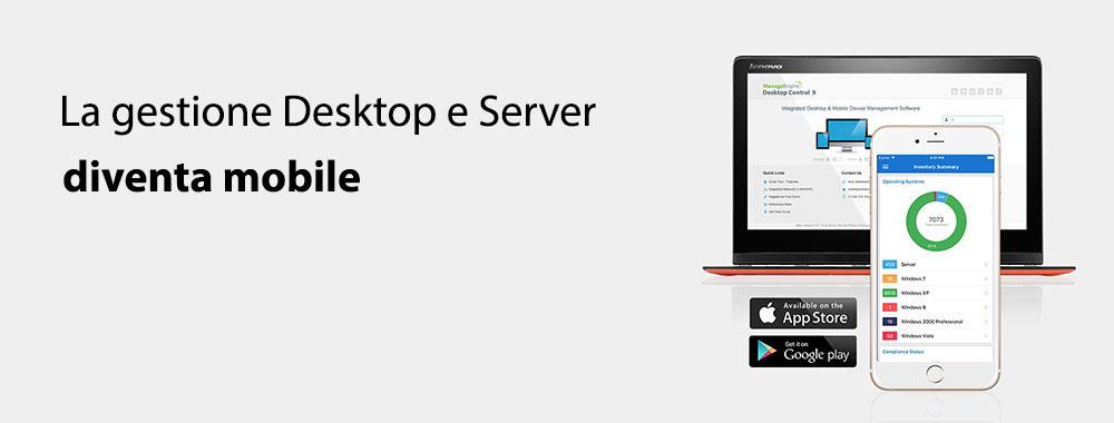 Mobile App for Desktop Management using Desktop Central